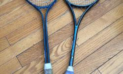 squash racquets! Both for $20 or $10 each. One Wilson brand and the other is Black Knight Kevlar Graphite 7060.