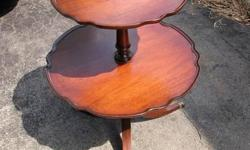 great grandmothers table 2 tier mahogany wood available will delete when sold