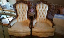 2 Wingback French Provincial Chairs in excellent condition.