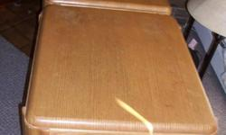 I have for sale 2 sturdy wooden end tables.  They are in good condition. I am just selling because I bought a new set.  I am asking $25.00.