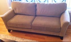 Sklar Peppler Couch Arm Chair Set 2 x Couch 1 x Arm Chair and Ottoman $420 or best offer for set Would also consider selling 1 couch w chair. Colour light brown / beige. Is 7 years old, couch was $1700 new and chair and ottoman was $1500 new. We are