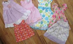5 dresses and 1 tank top, all size 2T includes Please Mum, Joe, Jona Michelle, Old Navy, Youngland and SoLaVita. First come first served. $5 takes the whole lot. No stains.
