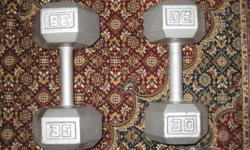 30 and 35 lb Dumbell weights. Located in Laird, will deliver to the Soo.
