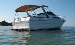 All tops and seats just recovered powered by twin 5.7L mercrusier alpha must be seen excellent condition.Also has 9 ft tender with 9.9 suzki outboard ,AC unit and many other extras.