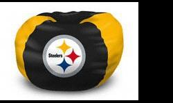 "-102 "" ROUND-FULLY LICENSED BY THE NFL-SHELL ONLY-WALMART CARRIES THE BAGS OF FILL-GREAT GIFT IDEA FOR ANY STEELERS FAN-EXCELLENT FOR ANY DEN,GAMES ROOM OR MAN CAVE.-OTHER TEAMS AVAILABLE."
