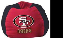 "-102 "" ROUND-FULLY LICENSED BY THE NFL-SHELL ONLY-WALMART CARRIES THE BAGS OF FILL-GREAT GIFT IDEA FOR ANY 49ERS FAN-EXCELLENT FOR ANY DEN,GAMES ROOM OR MAN CAVE.-OTHER TEAMS AVAILABLE."