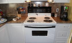 Range about 10 ys old and in good condition with everything working well and the stove looks good. Moving to Self-Clean. $75.00 OBO - 705-787-0543