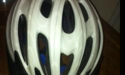 Never Used Women's white Bicycle HelmetBELL One SIze- Model BELLA