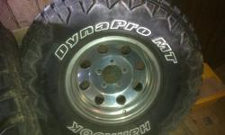 315/75/16R hankook Dynapro MT tires and Eagle alloy rims 5 bolt had on 97 Dodge ram asking $1200 or make an offer Call Steve 705 760 0638