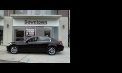 JUST IN...RARE LOW KLM BLACK/BLACK G37X SEDAN WITH NAVIGATION PACKAGE. THIS IS A GEORGEOUS, single owner VEHICLE WITH ALL THE OPTIONS. HURRY...THIS WON'T LAST LONG. CALL 416.975.2623 FOR MORE DETAILS. ONLY AT INFINITI DOWNTOWN. Dual Climate Control,Heated