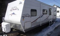 """-Electric awning -Living area slide and back bedroom slide -Queen bed in master bedroom with plenty of storage and lift up bed with storage underneath -Fold out couch -Surround sound with 20"""" LCD tv with dvd player and radio -Expandable dinette -Gas stove"""