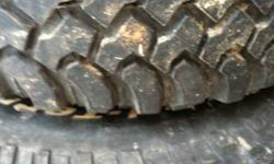 Nice tires 3 have 80 percent tread and one is worn more
