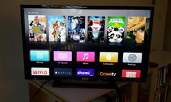 """32"""" LED TV, barely used (still has some of the plastic wrap on it). Might discuss price."""