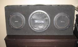 """32"""" Automotive Audio Stereo Becker Speaker Box. 5 Speaker /tweeter system. Everything works and easy hook-ups and db controls on top. I had it behind the seats in my truck."""