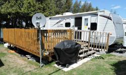 32ft Jayco Trailer on Water Front Lot For Sale - Lot fees are PAID for 2016 so all you need to do is show up and enjoy the summer. - Located on a beautiful waterfront lot on Mink Lake. (5mins to Eganville) - The trailer is 32ft long - Jayco trailers are