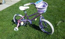 """Candyhearts"" by Nakamura bike for sale. 16"" wheels. Training wheels. Only $35. We are located in Orleans. See our list of other items for sale. First come, first served."