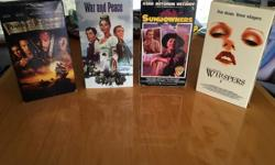 Some Classic VHS tapes including: - War and Peace (2 VHS set) - The Odd Couple - The Sundowners - Mrs. Doubtfire - Whispers - Apollo 13 - Pirates Of The Caribbean $1 each or all 7 for $5 Call / text 250-812-1629 or reply by e-mail