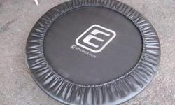 """""""Energetics"""" mini trampoline for sale. Good condition, 40 inches in diameter. Only $40. We are located in Orleans. See our list of other ads for sale. First come, first served."""