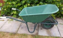 """""""Forte"""" wheelbarrow for sale. 24"""" wide. Only $65. We are located in Orleans. See our list of other ads for sale. First come, first served."""