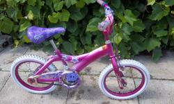 """""""Pink"""" by Barbie bike for sale. 16"""" wheels. Front hand brake and coaster brake. Only $50. We are located in Orleans. See our list of other items for sale. First come, first served."""