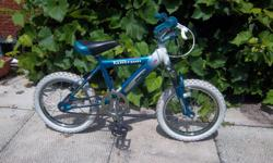 """""""Tantrum"""" by Shift 'n Gear bike for sale. 16"""" wheels. Front suspension. Coaster and rear hand brakes. There is no gears on this bike even tho it says shift 'n gear. Only $45. We are located in Orleans. See our list of other items for sale. First come,"""