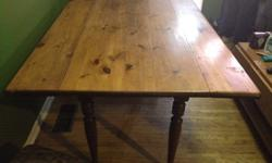 My friend asked for help posting this 150+ year old Pine Harvest Table. Rustic antique 5 piece dining room table set. Needs some work to sturdy the legs a bit. 647-990-3165