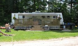 SMOKE FREE We have a 2009 Nomad trailer we are putting up for sale on a huge, year round or seasonal (May-Oct) spot. We only camp there seasonally ($1650) but I beleive it is $350 a month for year round. The park has a store with a small restaurant open