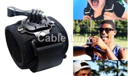 360° Rotation Wrist Hand Strap Band Holder Mount Advanced Version for Gopro and Other Sports Camera Advanced version with Extra Nail Enforcement and Long Screw Mount adapter fasten on high-strength band, the inner layer fabric made with breathable fabric