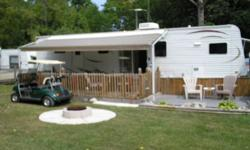 located at paradise valley park forest ont, across the street from highland glen conservation area, with nice beach, boat ramp and picnic area. 10 mi to ipperwash beach and 25 mi to grand bend. trailer on premire ravine lot b-100. more pics and info on