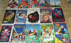 THESE WOULD BE GREAT TO KEEP AT A COTTAGE, ETC. VHS ARE MUCH EASIER THAN DVDS FOR YOUNG CHILDREN TO USE AND LESS FRAGILE. Hi, I am selling the follow kids VHS movies. They are all originals with their original cases. They all work great. See pictures or