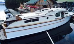 Recently repaired and upgraded. This 38' Monk is almost ready to go. It is up in the Abernethy & Gaudin shop where every surface was renewed and interior refinished. New non skid decks, all new paint and Varnish. Many wood repairs to bring her back to her