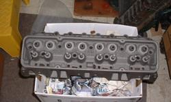 Single Chevy cylinder head, 3917291,dated D-26-8, April 26, 1968, 1.94 valves,all stock,used on 1968 Camaro and Nova SS
