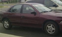 Selling a 2002 Automatic Chevy Cavalier with 45000km on it. Lady driven, no accidents. The brakes were changed recently as well as new front struts. It has a remote starter and keyless entry as well as power locks and winter tires. It is in decent shape