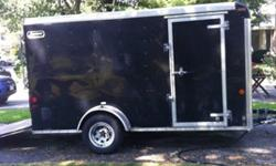 Original owner. I bought this trailer from a dealer in 2009.- Single Axle- 6' x 12' Enclosed trailer.- 8' high.- Two air vents.- Ramp door in the back- Side door- Two spare tires included- One spare leaf spring included