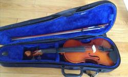 """Franz Hoffmann® Etude Violin Outfit - 3/4 size A popular choice for a """"Step-Up"""" instrument for Beginners and Intermediate players. Made by hand and finished with a spirit varnish to bring out even more of the sound, and set-up with Overture Ultra"""