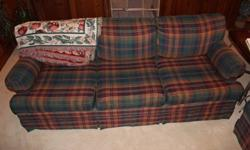 Custom made chesterfield, love seat and oversized ottoman/table. All in good condition. The table alone is worth $400. However, we have no room for this because new furniture is arriving shortly. No reasonable offer refused.