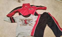 Comes with jacket, pants and shirt. Size 12 months