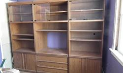 3 piece wall unit by Pallister, located just before Middleville Note 1 glass is missing from centre unit which can be ordered through Zeibart Uniglass in CP for under $20 Located near Middleville