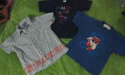 2 tshirts and 1 button up short sleeve all for $3