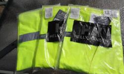 3 Traffic Safety Reflective Vests -Size 2xl-3xl - Brand New. Keep safe and be seen when working around traffic. These will fit over your jacket or sweater and are the standard size used by all. Asking only $20 for all 3 of them. If you see the ad I still