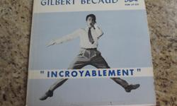 For sale - the following French LP's, all are in nice scratch free condition: - Gilbert Becaud: Le Pianiste de Varsovie - Gilbert Becaud: Incroyablement - Gilbert Becaud: Gilbert Becaud Chante Asking only $5 each or make an offer on the lot, would make a