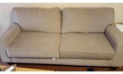 -PAID $1000 -NOT EVEN A YEAR OLD -TWO LARGE CUSIONS GIVE THE LOOK OF A LOVE SEAT WITH THE SIZE OF A COUCH CALL OR EMAIL FOR VIEWING AND PICKUP - IN STORAGE LOCKER