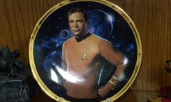 tags: star trek, kirk , william shatner, spock, leonard nimoy, star wars, sci fi, science fiction, 1960's, tv series, big bang, collectible, plate, comic, figures,I AM SELLING 2 HAMILTON COLLECTOR PLATES FROM THE 1991 LIMITED FIRING (ONLY 14 DAYS!) SERIES