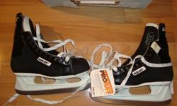 "Bauer ""Pro 80"" Size 8 Hockey Skates- BRAND NEW Tags are Still On- Model 80-11- Width : D- ""Pro Tuff""- These skates are brand new in the box with the Tags still on. The box got a little crushed but the skates are perfect!- Never Used- Paid over $100.00 +"