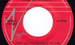 Ten singles: Scandal (with Patty Smyth)...The Warrior Simple Minds...Don't You (Forget About Me) Split Enz...I Got You Starship...We Built This City Straight Lines...Letting Go (picture sleeve) Streetheart...Under My Thumb (promotion copy) Styx...Babe