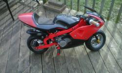 49cc pocketbike. Excellent condition, runs great. All it needs is a windshield.
