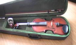 great condition with case, bow, tuner and extra bridge.