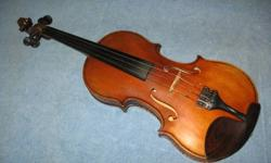 Looking for a good home for this very fine instrument. Beautiful tone, excellent condition. Includes new carbon fiber bow, rosin, humidifier & case. Test drives welcome. Phone calls preferred. 292-7864 Thanks.