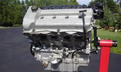 Northstar 4.6L engine removed from a 1997 Cadillac Deville. Engine was overhauled and the heads were done by R&R. Engine was not used afterward as a scratch was found in one cylinder, so heads are still unused. Either use the heads somewhere else or