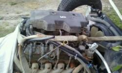 COMPLETE MOTOR OUT OF 2000 GMC SERRIA EXT CAB HAS EVERYTHING INCLUDING TRANNY 613-242-8464 ONLY HAS 1620000 KLM  ENGINE COMES WITH 6 MONTH WARANTY..